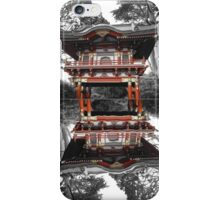Pagoda with Reflection in Pond iPhone Case/Skin
