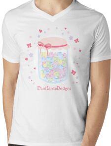 Kawaii Star Candy Jar Mens V-Neck T-Shirt