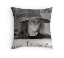A Witch's Wart Throw Pillow