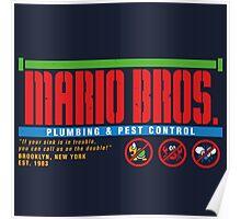 Mario Bros. Plumbing & Pest Control (colour) Poster