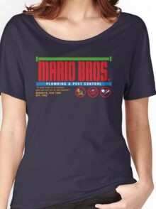 Mario Bros. Plumbing & Pest Control (colour) Women's Relaxed Fit T-Shirt