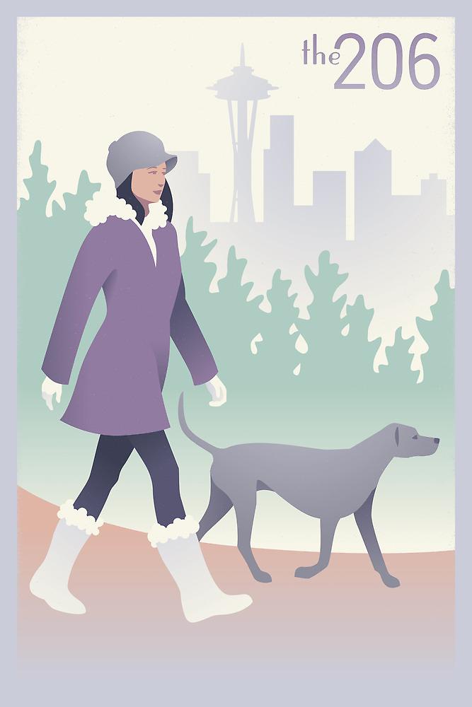 Walking the Dog in Seattle by mitchfrey