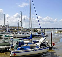 Boats in Ryde Harbour  by Rod Johnson