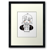Sleepy - KAWAII Framed Print