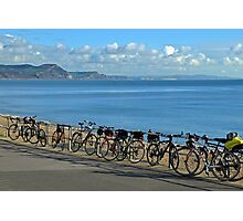 Parked Bicycles at Lyme  Dorset UK Photographic Print