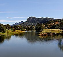 Tweed River at Byangum  - Murwillumbah by Ron Finkel