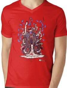Snail Ride Mens V-Neck T-Shirt