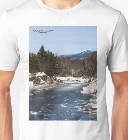 Pemigewasset River & Mt. Lafayette - Eastside Drive Bridge - Woodstock, NH 01-26-15 Unisex T-Shirt