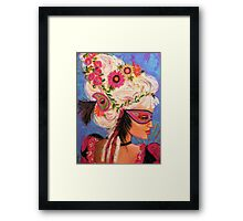 THE PINK MASKED SPY Framed Print