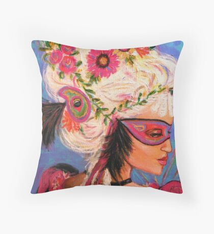 THE PINK MASKED SPY Throw Pillow