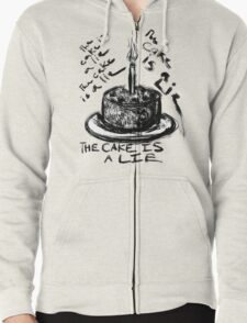 The Cake is a Lie Zipped Hoodie