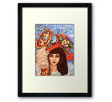 WERE THE BIRDS NEST Framed Print