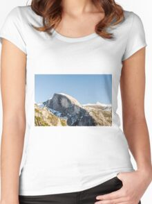 Half Dome Yosemite national Park, California USA Women's Fitted Scoop T-Shirt