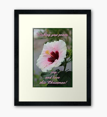 Peace, Love and Joy Christmas Card and Gifts Framed Print