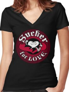Sucker For Love Too Women's Fitted V-Neck T-Shirt