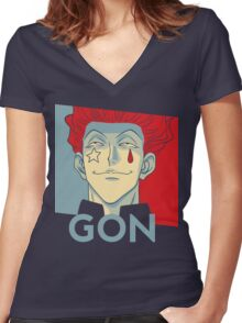 GON Women's Fitted V-Neck T-Shirt