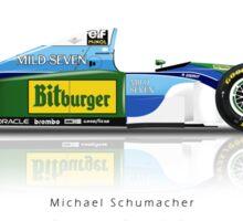 Michael Schumacher - Benetton B194 Sticker Sticker
