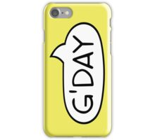 Australian Slang-G'DAY iPhone Case/Skin