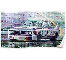 BMW 3 0 CSL 1st SPA 24hrs 1973 Quester Hezemans Poster