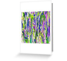 Running Paint - green,purple,pink Greeting Card