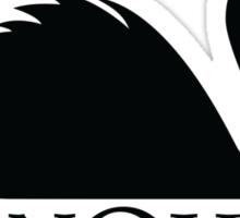 Swan Queen Black Sticker