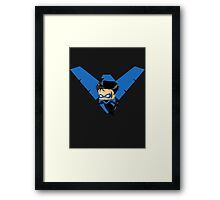 Chibi Nightwing Framed Print