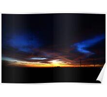 Halloween Sunset Sky 2012 Poster