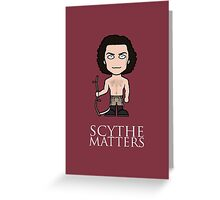 Poldark and Scythe Greeting Card