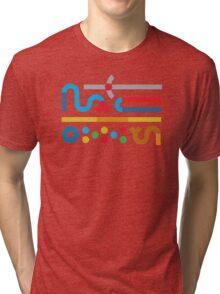 80s Cache Series - Thundercats Vintage Minimalist Line Art Tri-blend T-Shirt