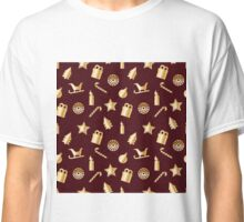 Christmas & New Year pattern gold Classic T-Shirt