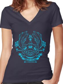 Mushroom Circuit Racing Women's Fitted V-Neck T-Shirt