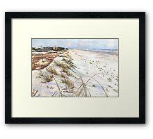 Morning Shadows on the Beach Framed Print