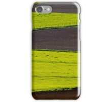 Farm Field Spring Cultivation Patterns iPhone Case/Skin