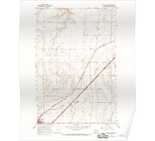 USGS Topo Map Washington State WA Ritzville NE 243465 1967 24000 Poster