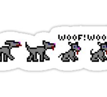 Ski Free Dog - Woof Woof TeeShirt Sticker