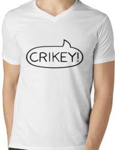 Australian Slang - Crikey Mens V-Neck T-Shirt