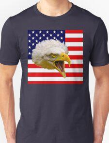 Flag and Eagle  Unisex T-Shirt