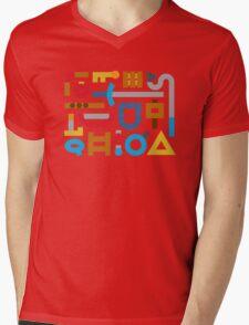 80s Cache Series - Nintendo The Legend of Zelda Vintage Minimalist Line Art, Link Mens V-Neck T-Shirt