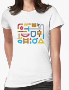 80s Cache Series - Nintendo The Legend of Zelda Vintage Minimalist Line Art, Link Womens Fitted T-Shirt