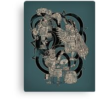 Ancient Jazztecs Canvas Print