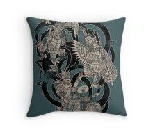 Ancient Jazztecs Throw Pillow
