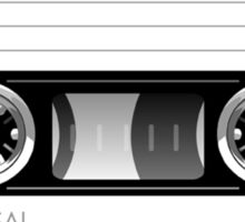 Cassette tape vector design Sticker