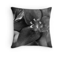 Dark Lily (Mendel) Throw Pillow