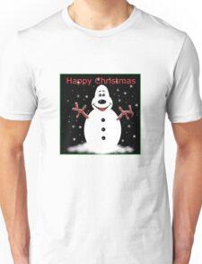 Happy Christmas Snoooowman Unisex T-Shirt