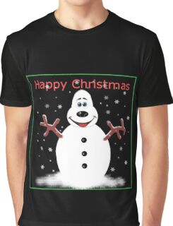 Happy Christmas Snoooowman Graphic T-Shirt