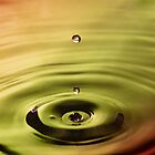 Water Droplet Golden by jphphotography