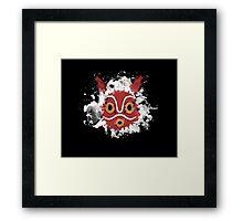 Mask mononoke Framed Print