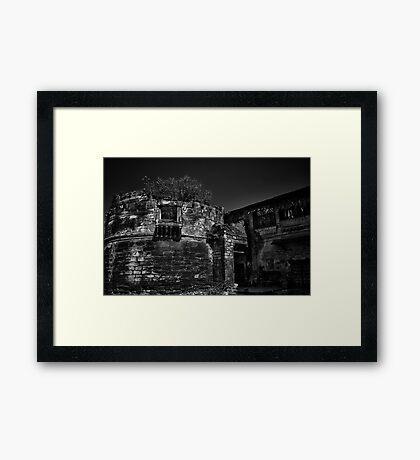 Memories of glorious past - B&W Framed Print