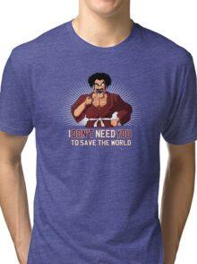 Mister Satan save the World Tri-blend T-Shirt