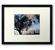 Kangaroos in Silouette, under the Gum tree - Whittlesea, Victoria Framed Print